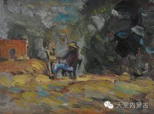 蒙古族青年画家——朝鲁及其油画创作 第21张