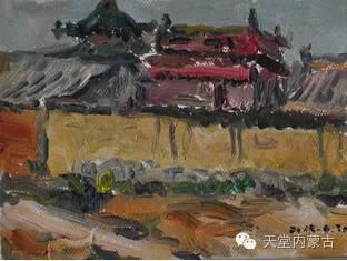 蒙古族青年画家——朝鲁及其油画创作 第30张