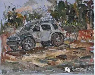 蒙古族青年画家——朝鲁及其油画创作 第24张