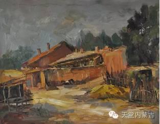 蒙古族青年画家——朝鲁及其油画创作 第28张
