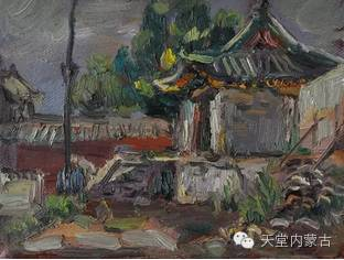 蒙古族青年画家——朝鲁及其油画创作 第31张