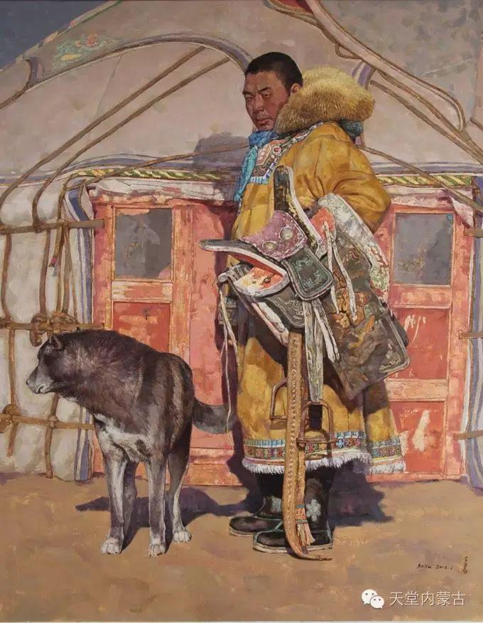蒙古族青年画家柯西格巴图 第15张 蒙古族青年画家柯西格巴图 蒙古画廊