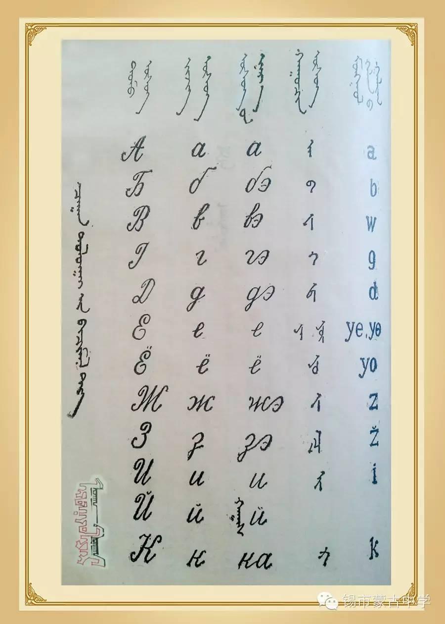 斯拉夫蒙文和维吾真蒙文对照表 第3张 斯拉夫蒙文和维吾真蒙文对照表 蒙古文库