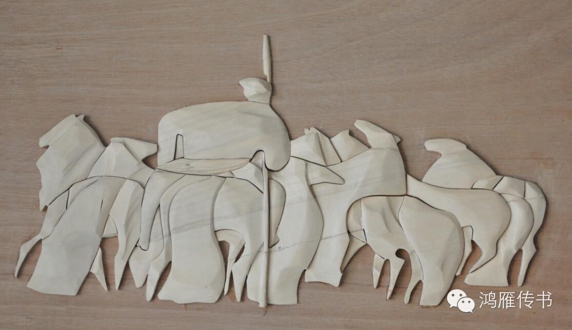 【蒙古人】乌拉特民间手工艺师达那巴拉木雕作品 第22张