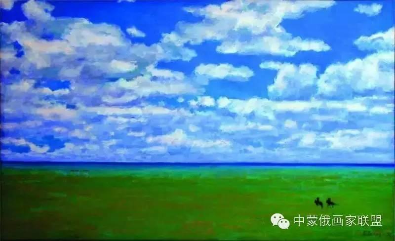 蒙古国油画大师-恩赫金、蒙赫金 第4张
