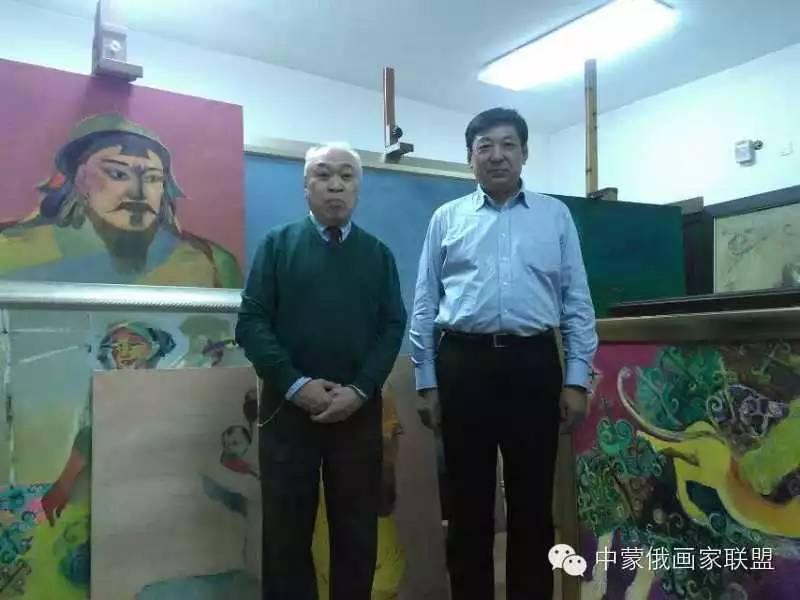 蒙古国油画大师-恩赫金、蒙赫金 第3张