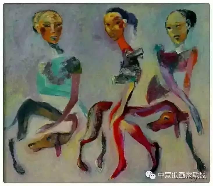 蒙古国油画大师-恩赫金、蒙赫金 第7张
