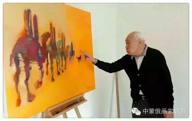 蒙古国油画大师-恩赫金、蒙赫金 第9张