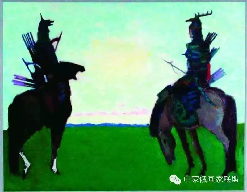 蒙古国油画大师-恩赫金、蒙赫金 第10张