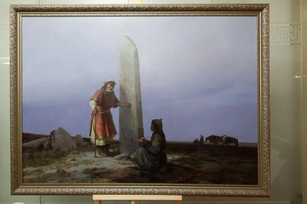 """蒙古现实主义艺术家的""""遗产""""展览开幕 第1张"""