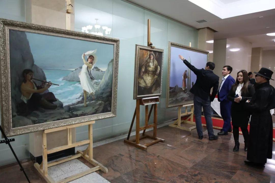 """蒙古现实主义艺术家的""""遗产""""展览开幕 第6张"""
