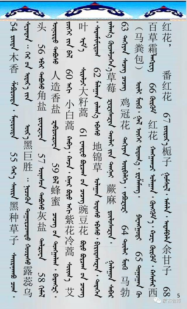 蒙古药材的蒙古、藏、汉译名称对照 第6张
