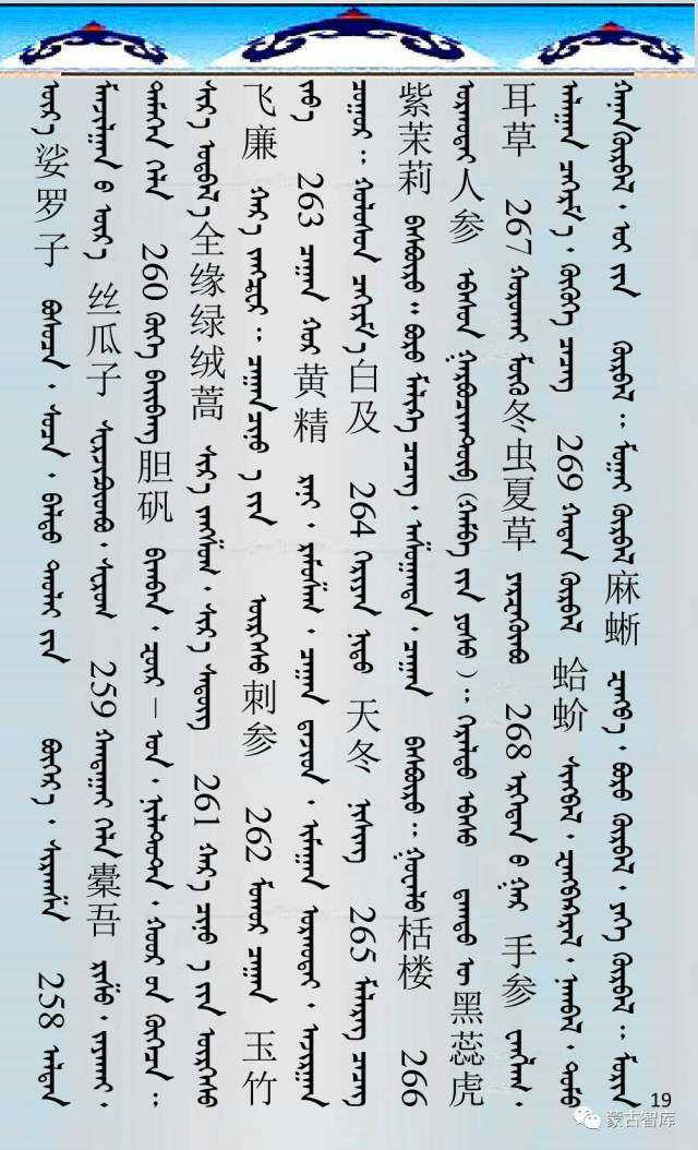 蒙古药材的蒙古、藏、汉译名称对照 第20张