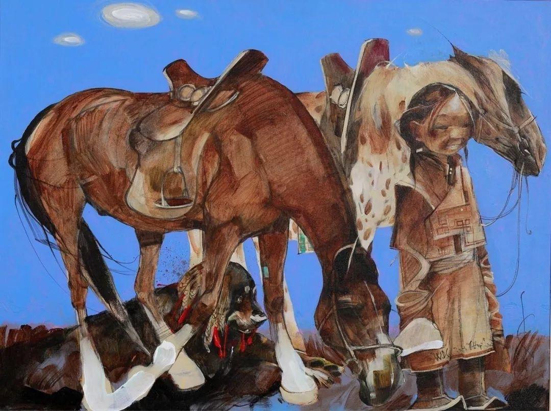 蒙古国著名画家刚巴特尔作品欣赏 ... 第6张