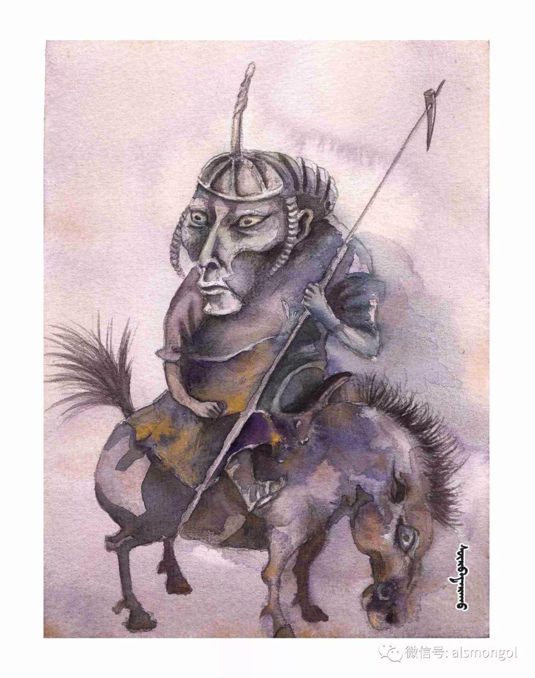 【智慧蒙古】人美画更美,年轻画家海乐和她的绘画作品! 第16张