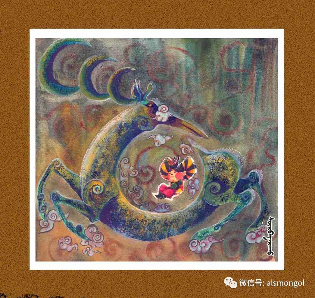 【智慧蒙古】人美画更美,年轻画家海乐和她的绘画作品! 第24张 【智慧蒙古】人美画更美,年轻画家海乐和她的绘画作品! 蒙古画廊