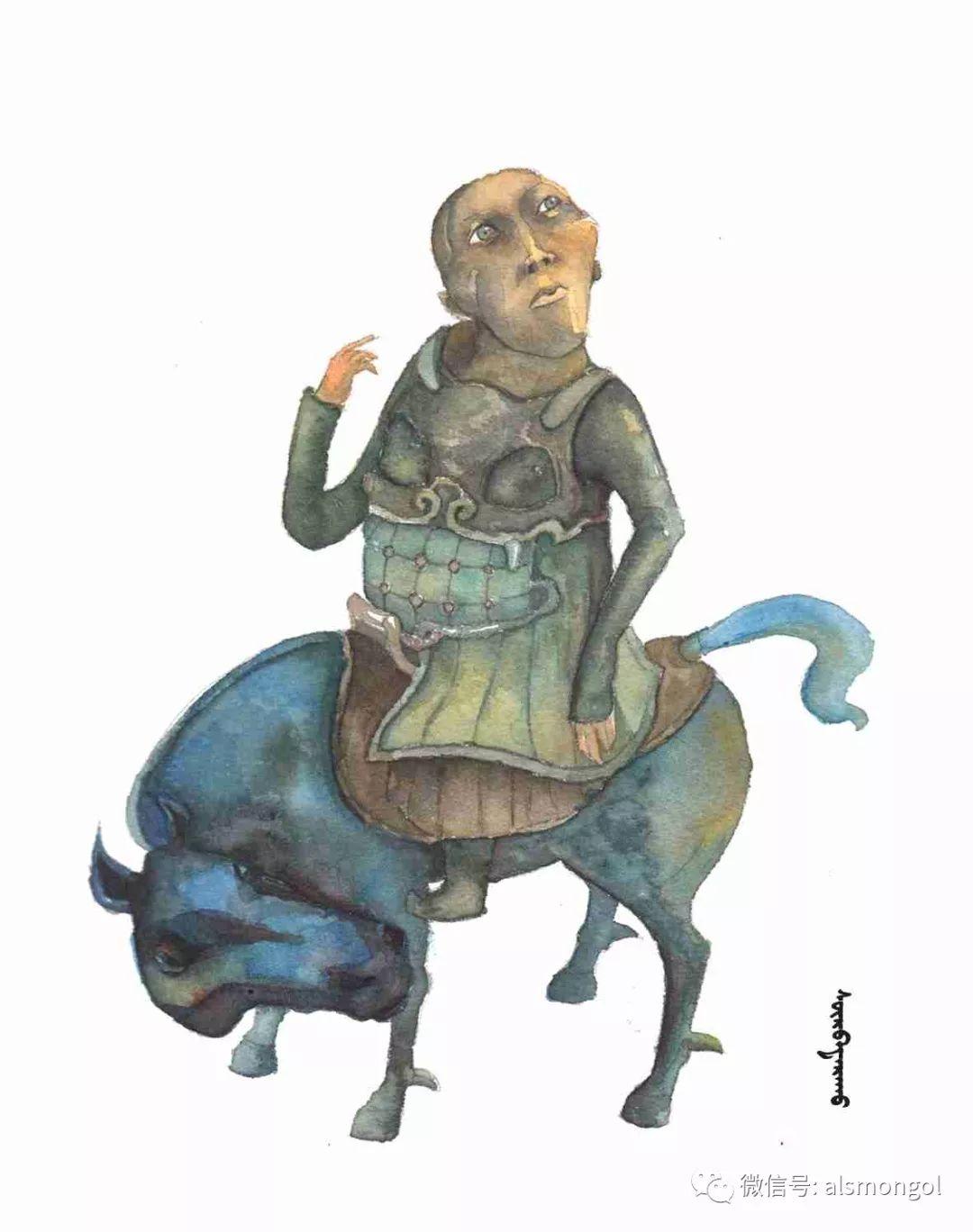 【智慧蒙古】人美画更美,年轻画家海乐和她的绘画作品! 第22张 【智慧蒙古】人美画更美,年轻画家海乐和她的绘画作品! 蒙古画廊