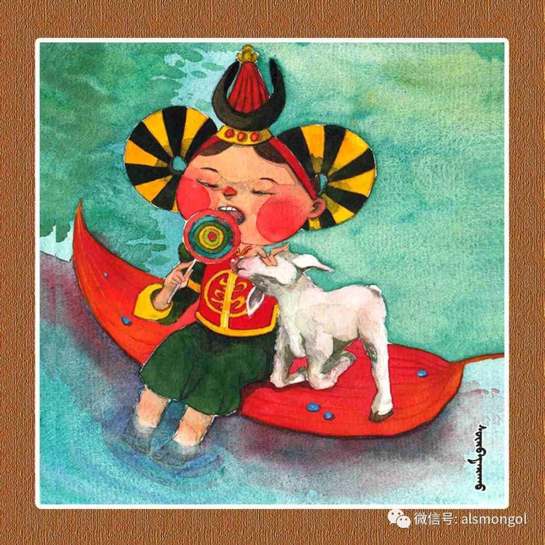 【智慧蒙古】人美画更美,年轻画家海乐和她的绘画作品! 第30张 【智慧蒙古】人美画更美,年轻画家海乐和她的绘画作品! 蒙古画廊