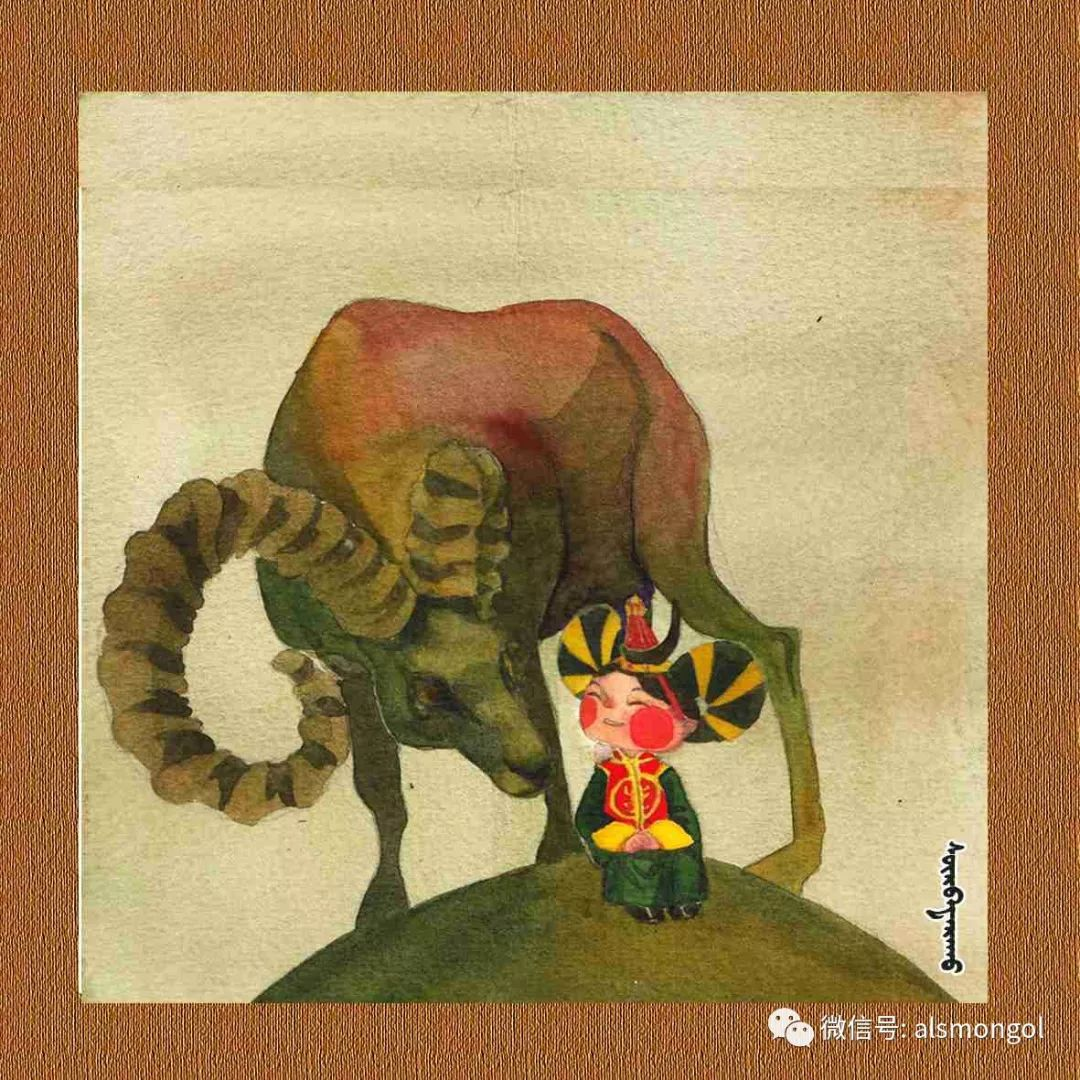 【智慧蒙古】人美画更美,年轻画家海乐和她的绘画作品! 第34张 【智慧蒙古】人美画更美,年轻画家海乐和她的绘画作品! 蒙古画廊