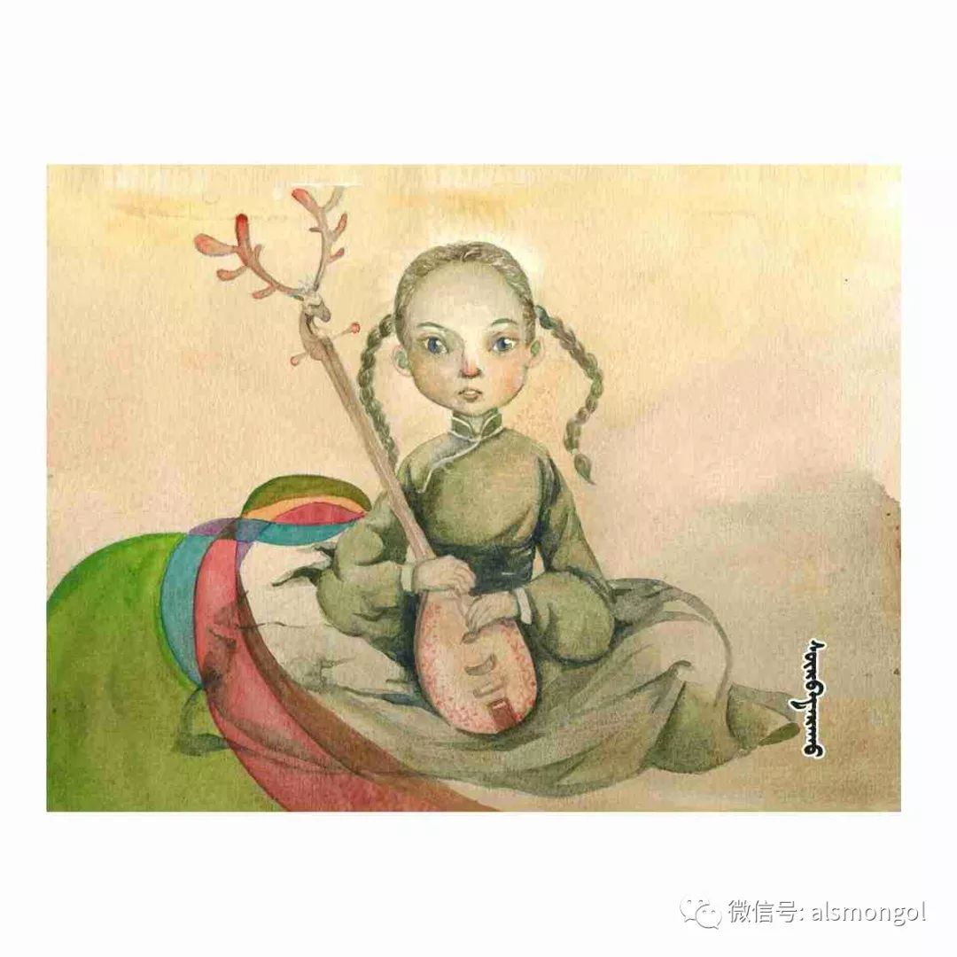 【智慧蒙古】人美画更美,年轻画家海乐和她的绘画作品! 第40张 【智慧蒙古】人美画更美,年轻画家海乐和她的绘画作品! 蒙古画廊