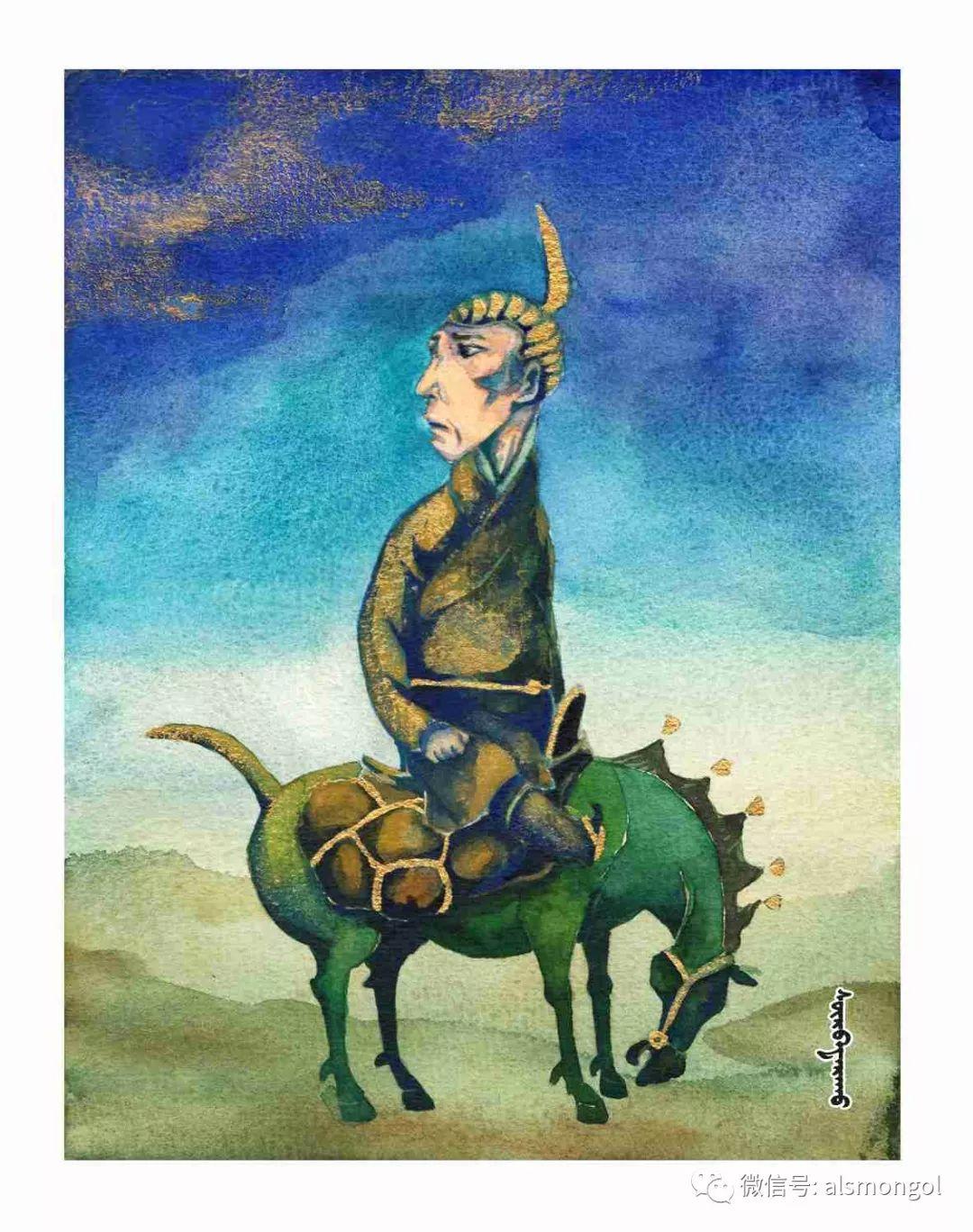【智慧蒙古】人美画更美,年轻画家海乐和她的绘画作品! 第42张 【智慧蒙古】人美画更美,年轻画家海乐和她的绘画作品! 蒙古画廊