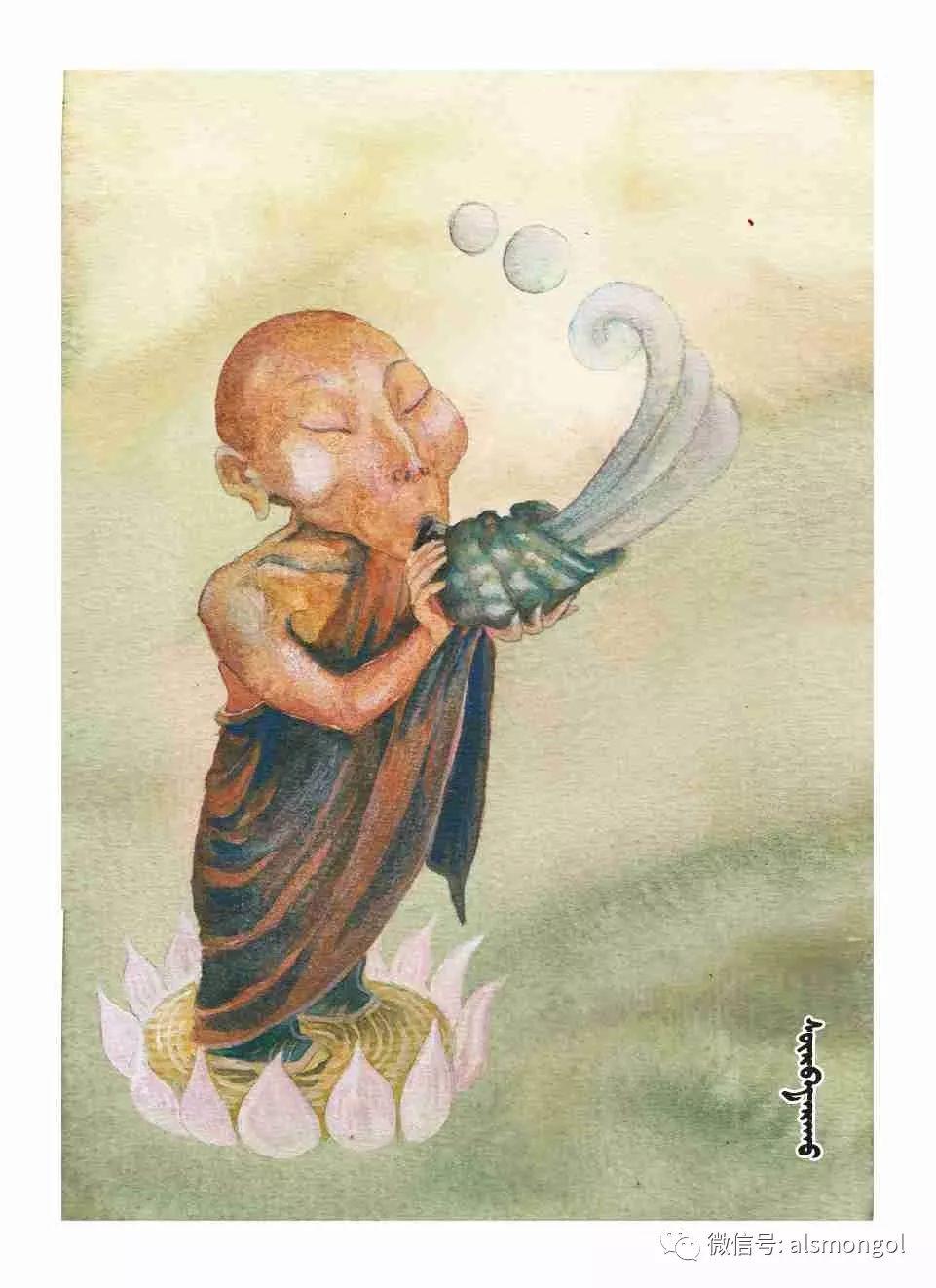 【智慧蒙古】人美画更美,年轻画家海乐和她的绘画作品! 第41张 【智慧蒙古】人美画更美,年轻画家海乐和她的绘画作品! 蒙古画廊