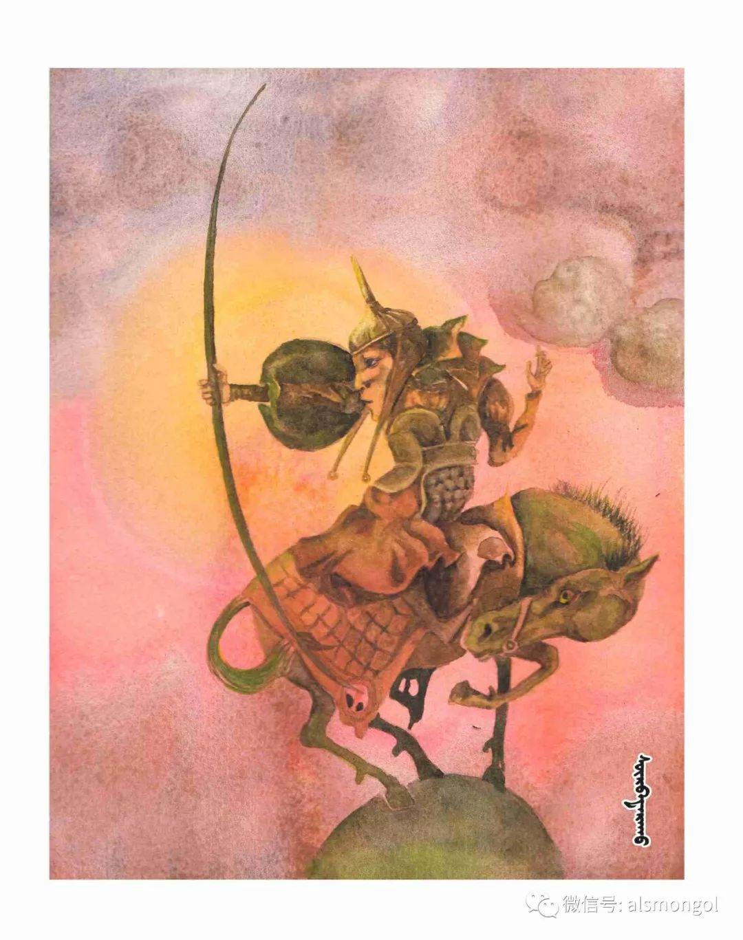 【智慧蒙古】人美画更美,年轻画家海乐和她的绘画作品! 第44张 【智慧蒙古】人美画更美,年轻画家海乐和她的绘画作品! 蒙古画廊