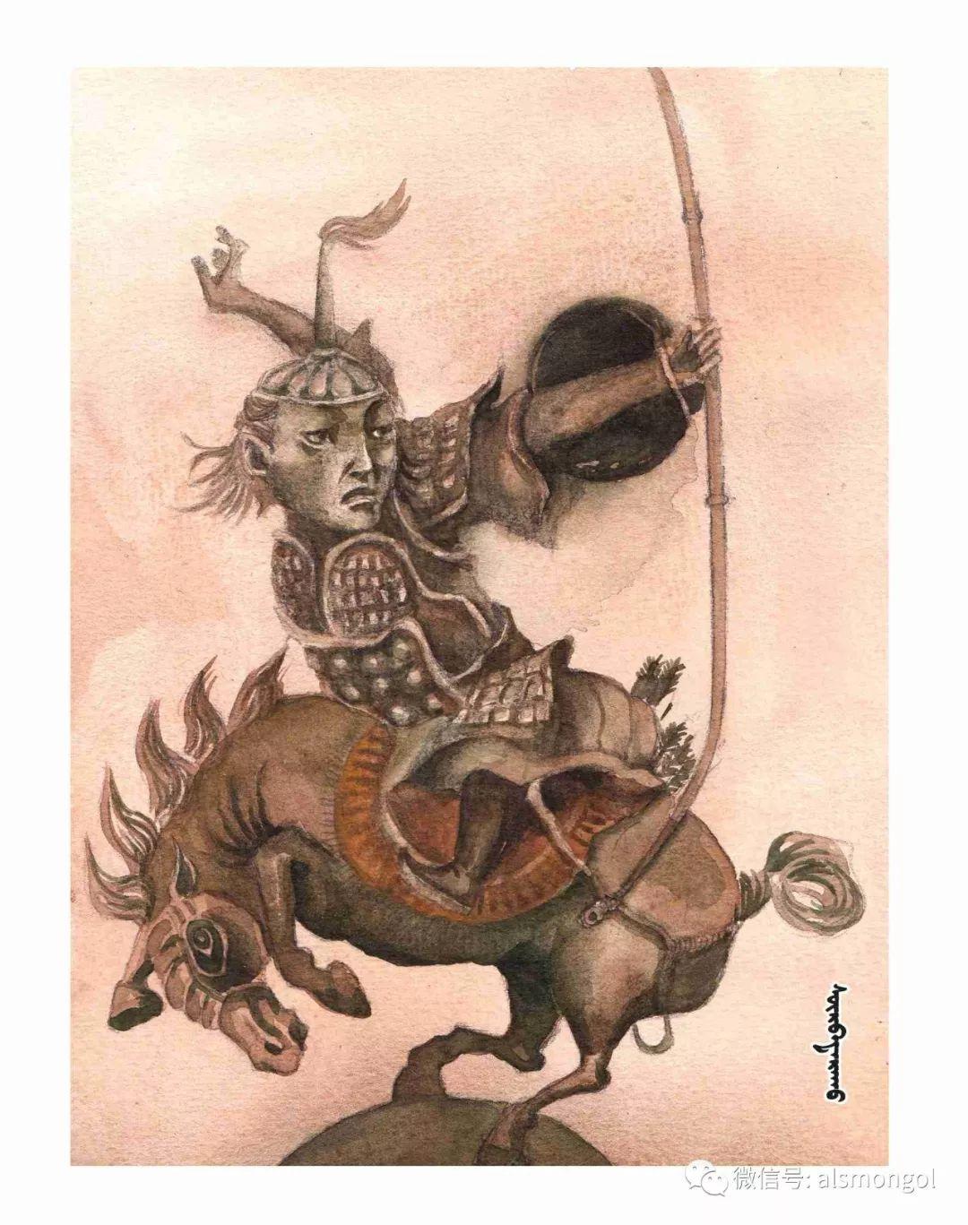 【智慧蒙古】人美画更美,年轻画家海乐和她的绘画作品! 第45张 【智慧蒙古】人美画更美,年轻画家海乐和她的绘画作品! 蒙古画廊