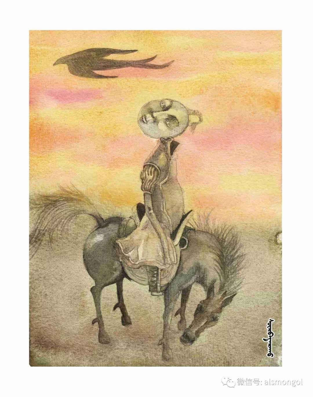 【智慧蒙古】人美画更美,年轻画家海乐和她的绘画作品! 第46张 【智慧蒙古】人美画更美,年轻画家海乐和她的绘画作品! 蒙古画廊