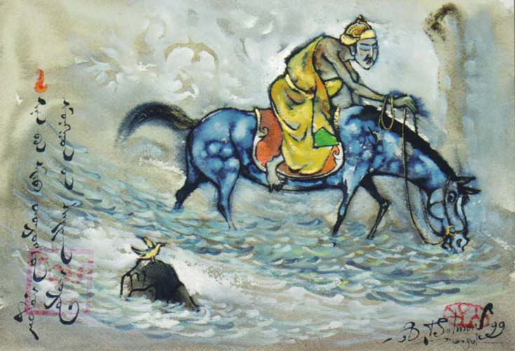 蒙古国画家作品欣赏 第2张 蒙古国画家作品欣赏 蒙古画廊