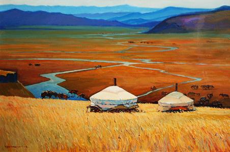 蒙古国画家作品欣赏 第11张 蒙古国画家作品欣赏 蒙古画廊