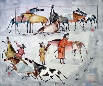 蒙古国画家作品欣赏 第15张 蒙古国画家作品欣赏 蒙古画廊