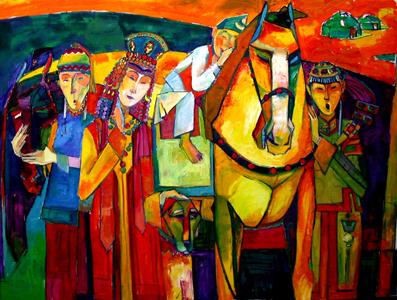 蒙古国画家作品欣赏 第16张 蒙古国画家作品欣赏 蒙古画廊