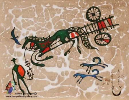 蒙古国画家作品欣赏 第17张 蒙古国画家作品欣赏 蒙古画廊