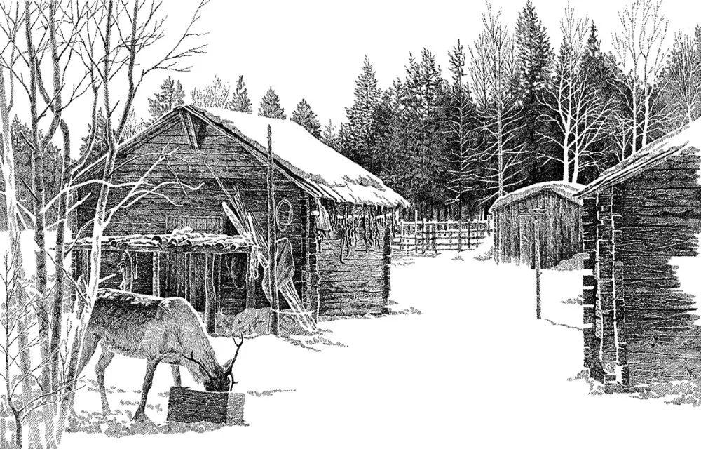 【央视画廊】蒙古族画家铁钢的钢笔画 第5张