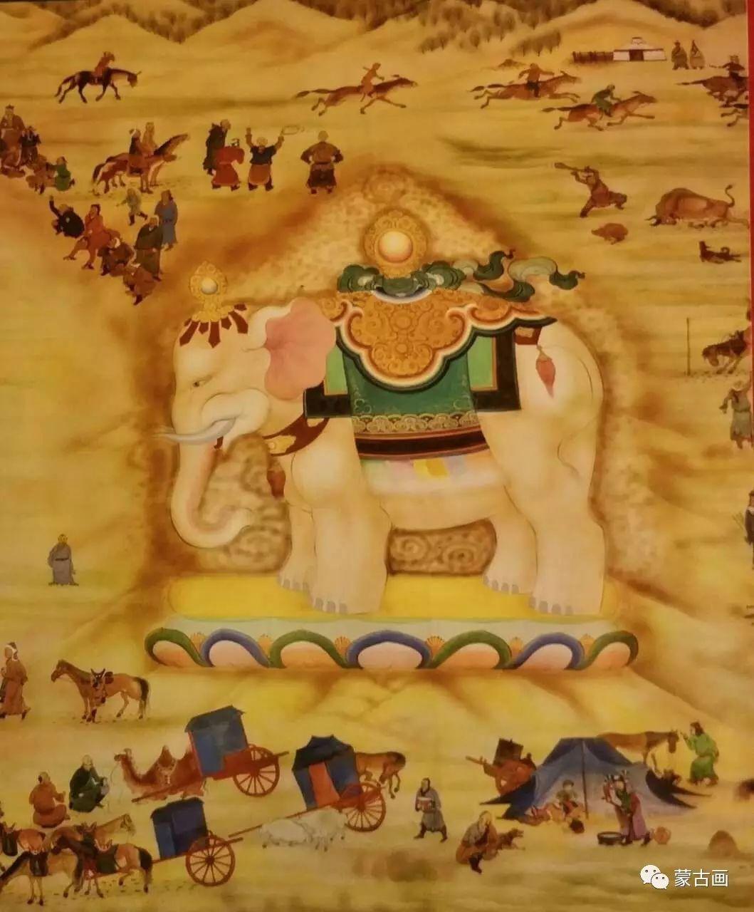 蒙古国画家-拉布嘎苏仁 第6张