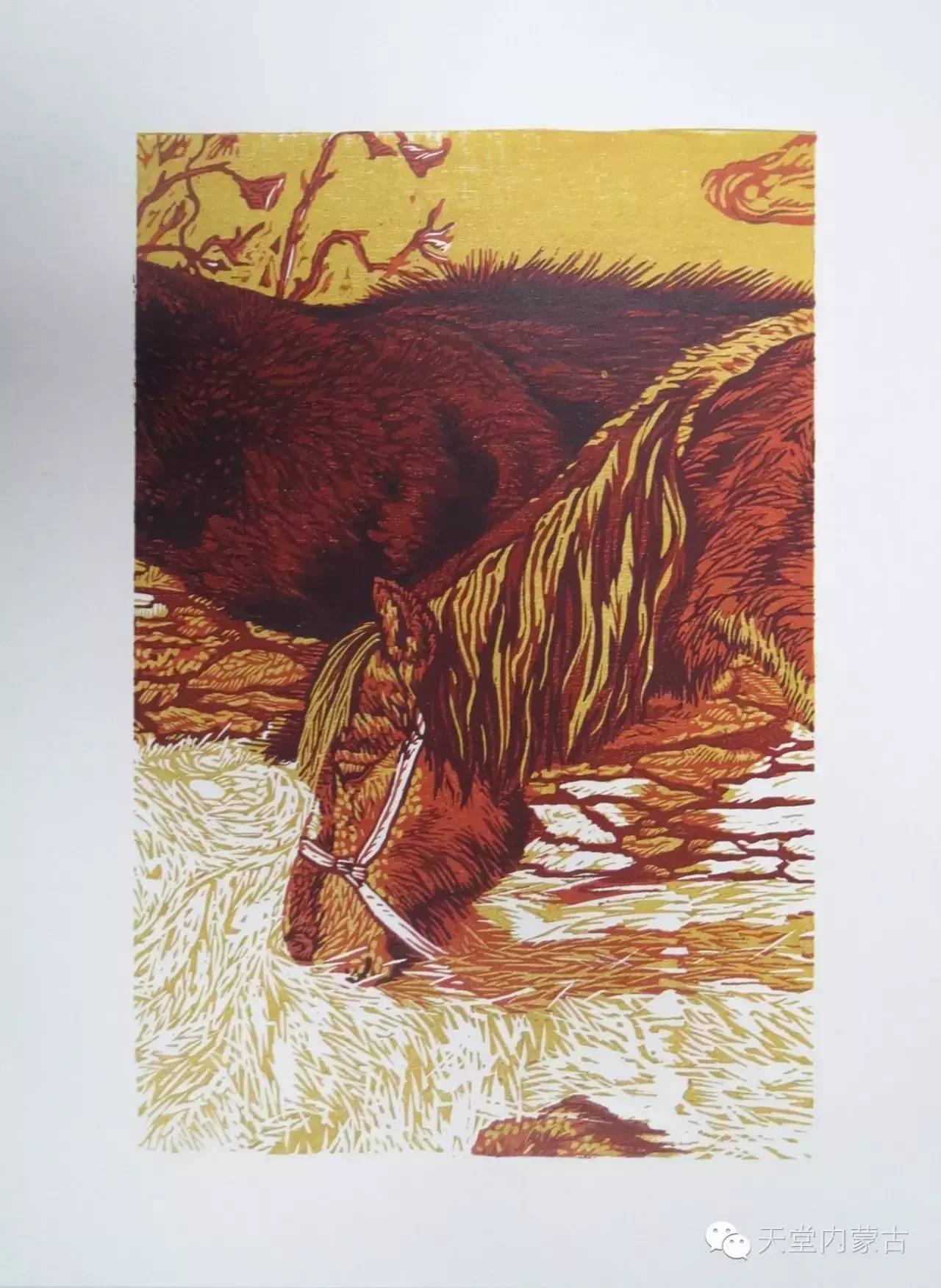 🔴内蒙古青年画家前德门作品 第4张 🔴内蒙古青年画家前德门作品 蒙古画廊