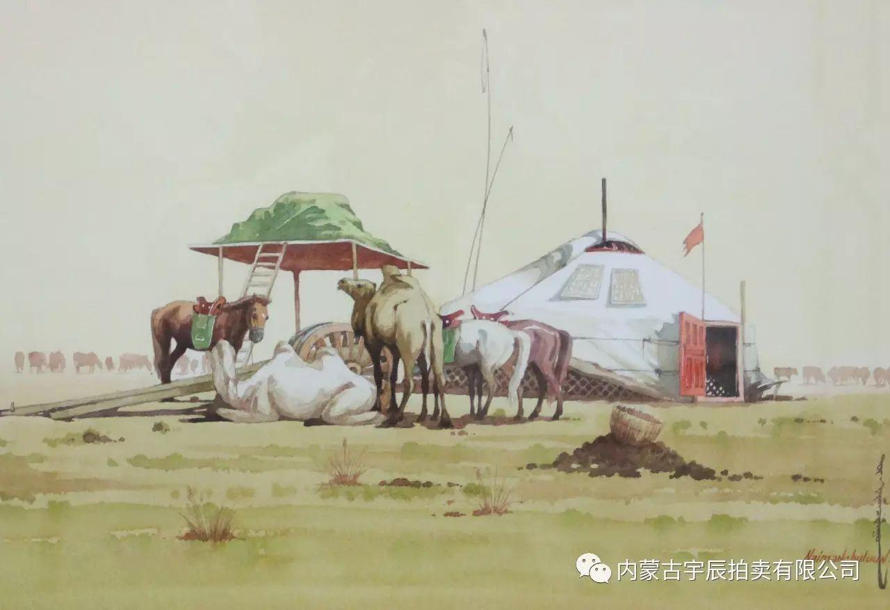 美丽盛开的原野——蒙古国作品赏析(二) 第13张 美丽盛开的原野——蒙古国作品赏析(二) 蒙古画廊