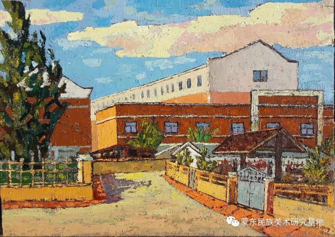 巴图油画作品——中国少数民族美术促进会,蒙东民族美术研究基地画家系列 第3张