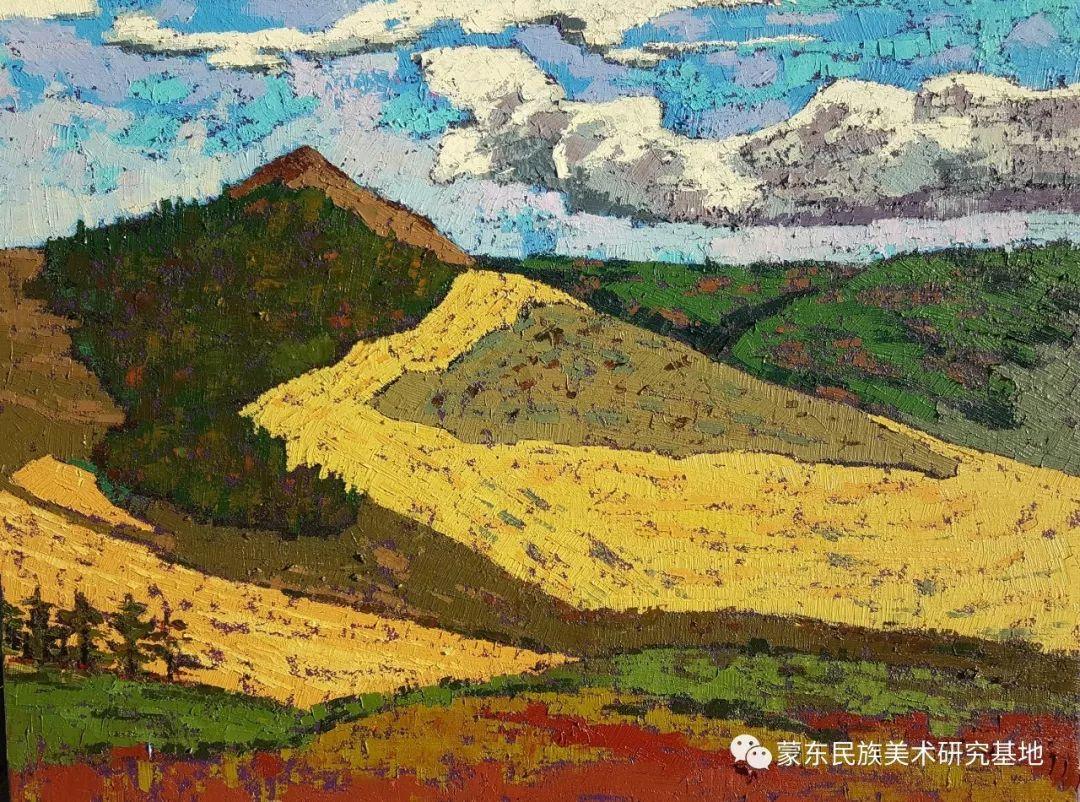 巴图油画作品——中国少数民族美术促进会,蒙东民族美术研究基地画家系列 第8张