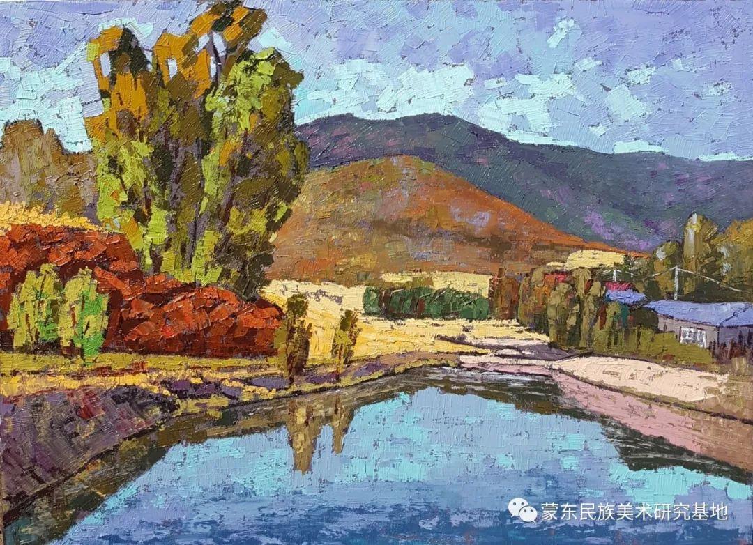巴图油画作品——中国少数民族美术促进会,蒙东民族美术研究基地画家系列 第10张