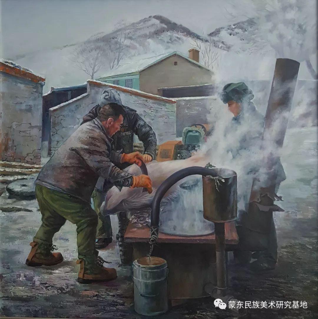 巴图油画作品——中国少数民族美术促进会,蒙东民族美术研究基地画家系列 第13张