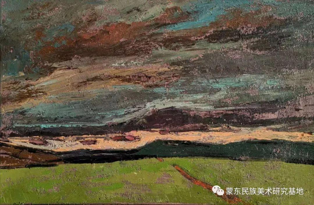 巴图油画作品——中国少数民族美术促进会,蒙东民族美术研究基地画家系列 第12张