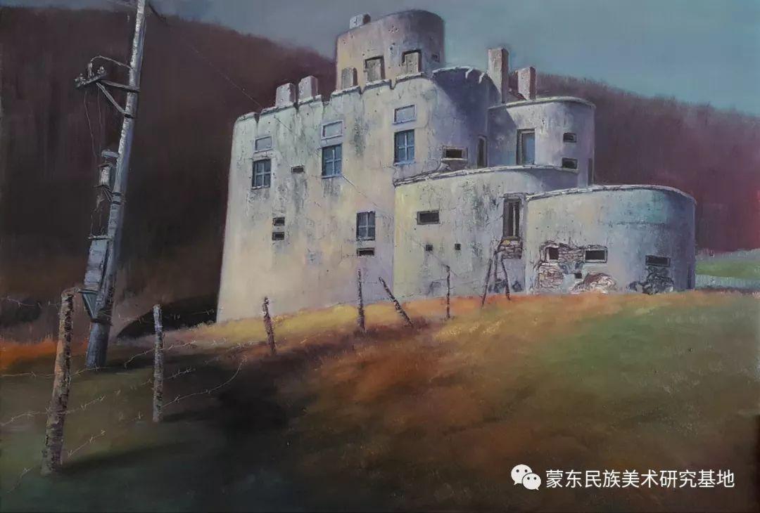 巴图油画作品——中国少数民族美术促进会,蒙东民族美术研究基地画家系列 第14张