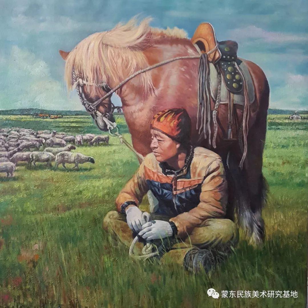 巴图油画作品——中国少数民族美术促进会,蒙东民族美术研究基地画家系列 第16张