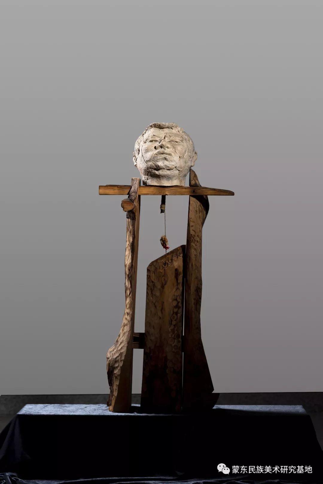包格日乐吐作品——头像雕塑系列(一) 第1张 包格日乐吐作品——头像雕塑系列(一) 蒙古画廊