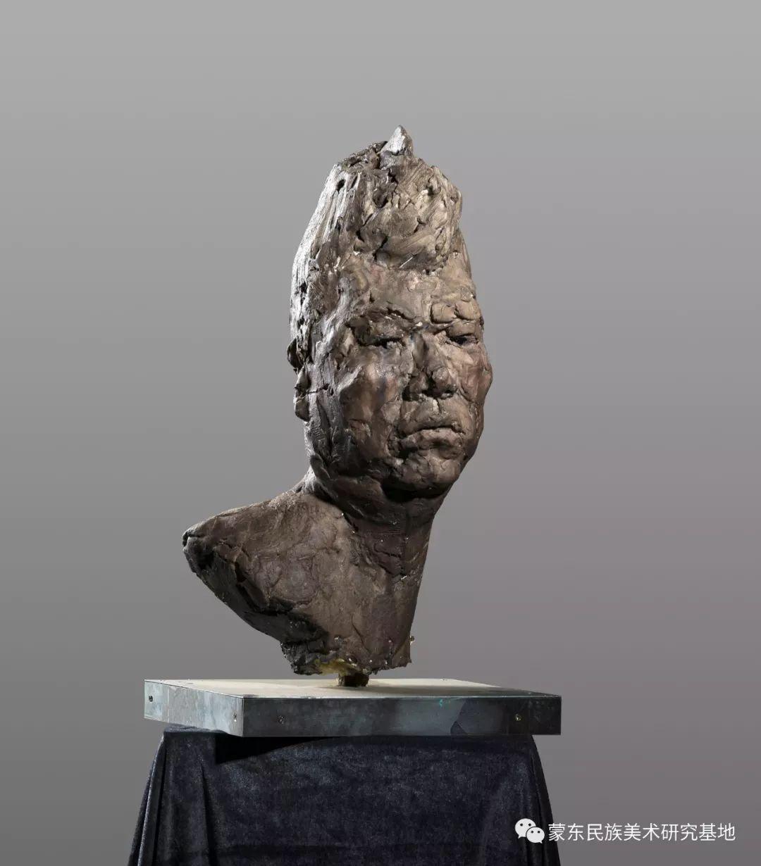 包格日乐吐作品——头像雕塑系列(一) 第2张 包格日乐吐作品——头像雕塑系列(一) 蒙古画廊