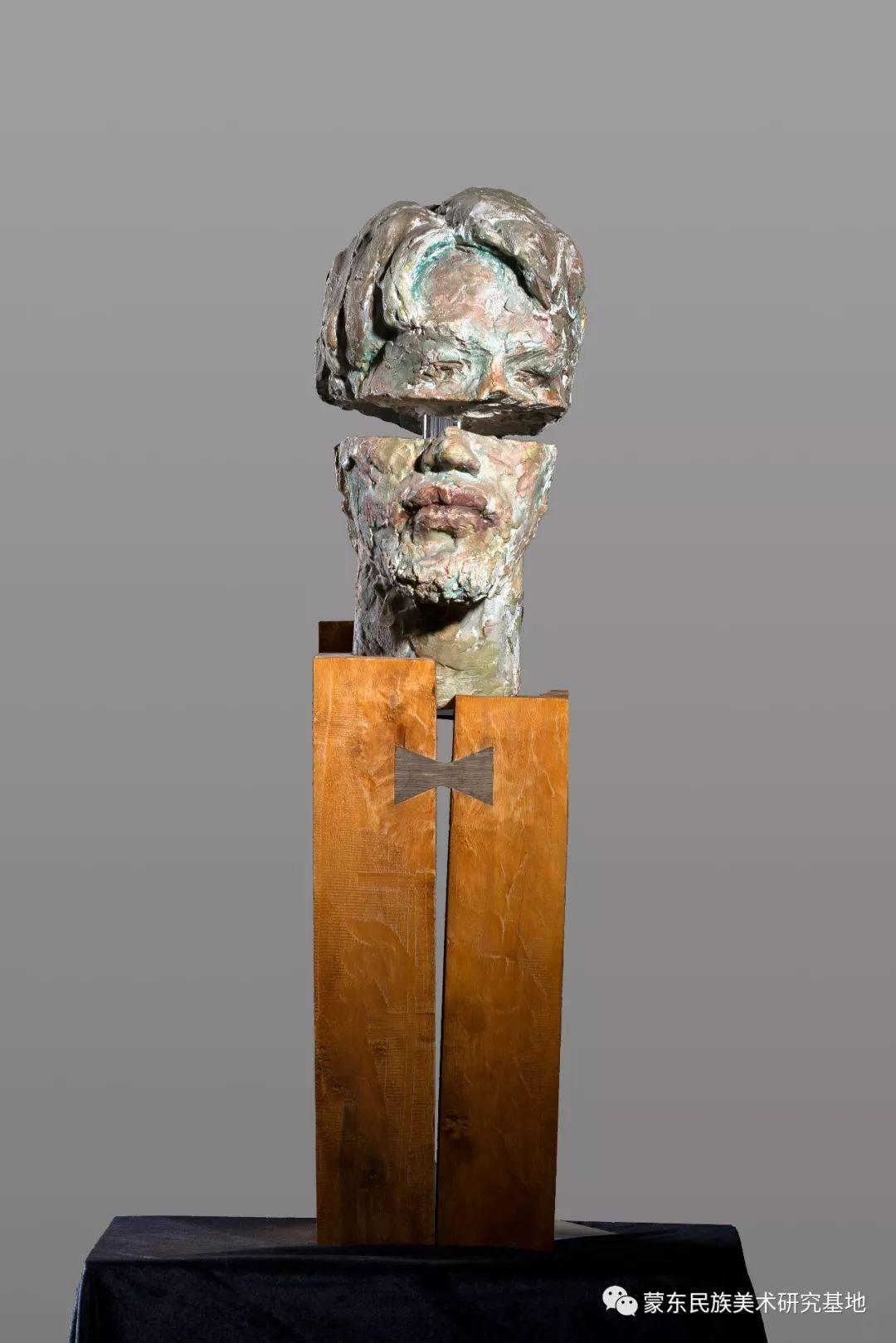 包格日乐吐作品——头像雕塑系列(一) 第7张 包格日乐吐作品——头像雕塑系列(一) 蒙古画廊