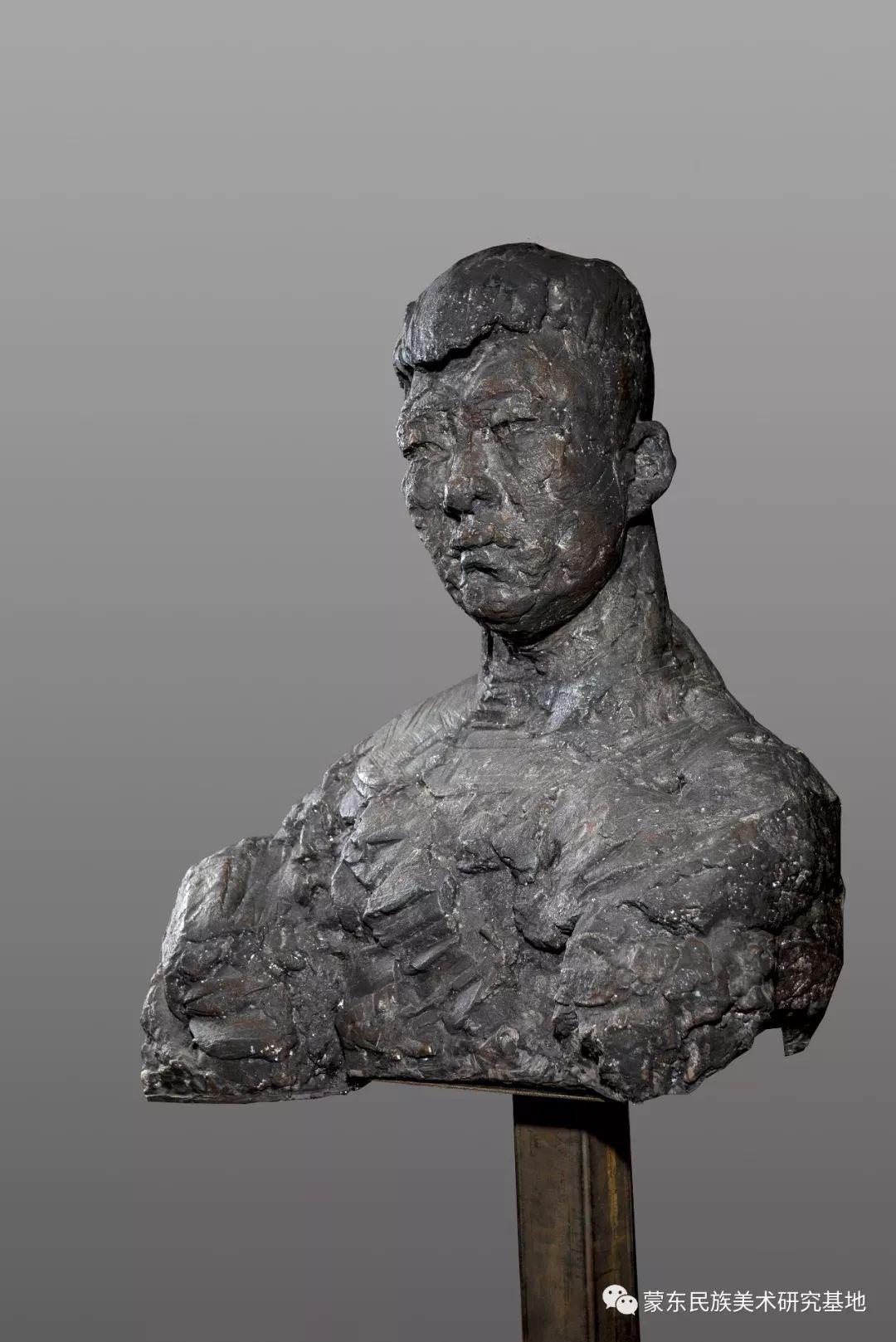 包格日乐吐作品——头像雕塑系列(一) 第5张 包格日乐吐作品——头像雕塑系列(一) 蒙古画廊