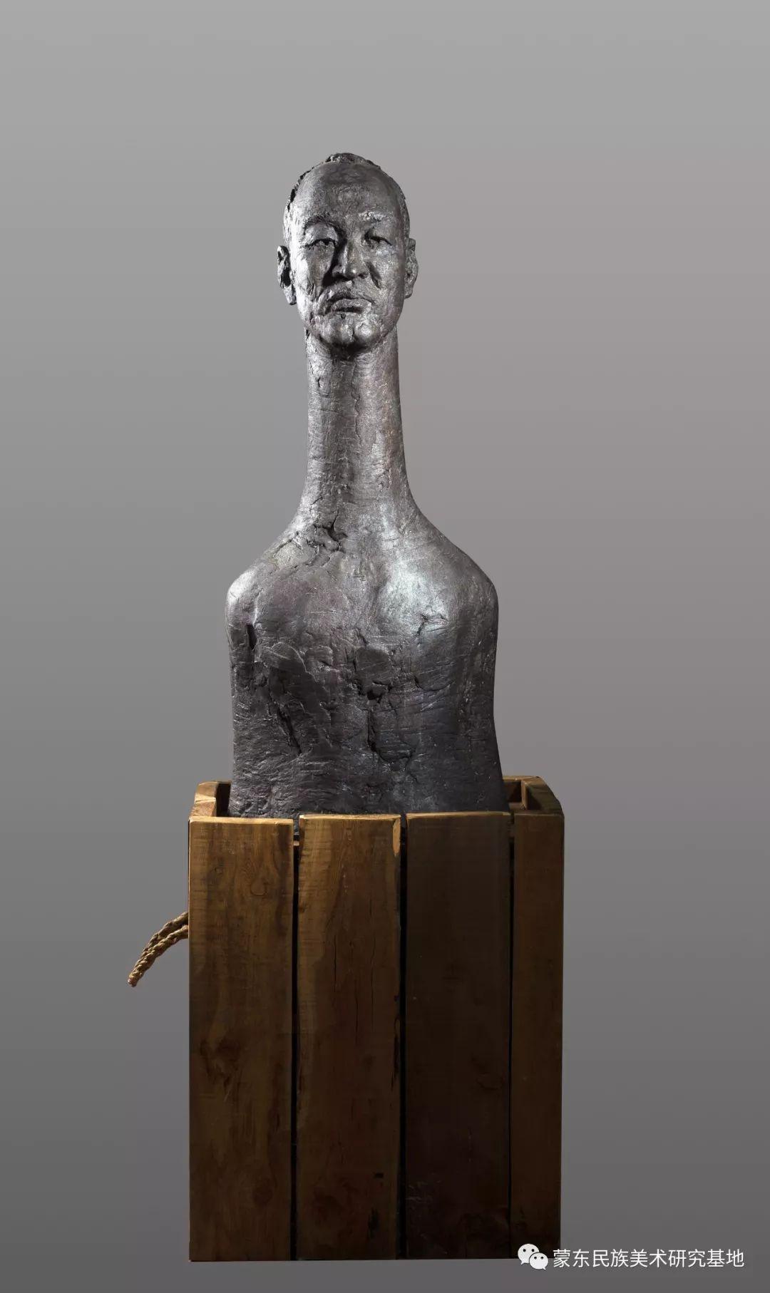 包格日乐吐作品——头像雕塑系列(一) 第8张 包格日乐吐作品——头像雕塑系列(一) 蒙古画廊